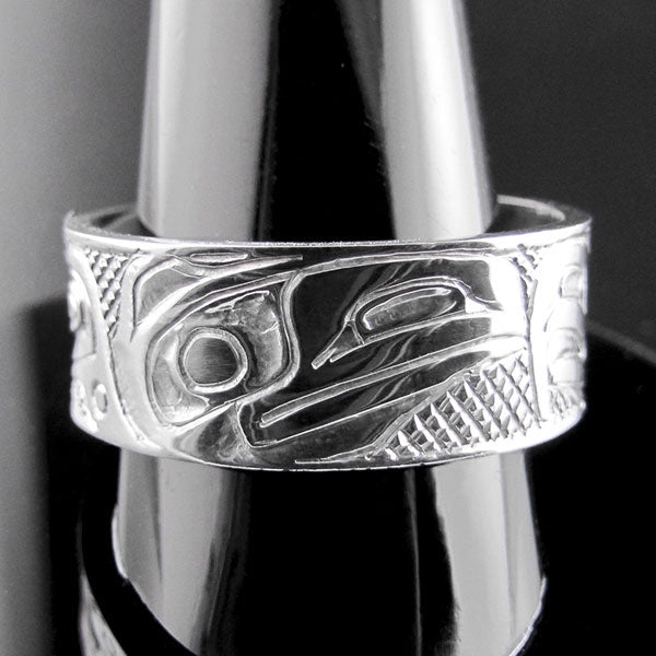 Haida Eagle and Raven Ring