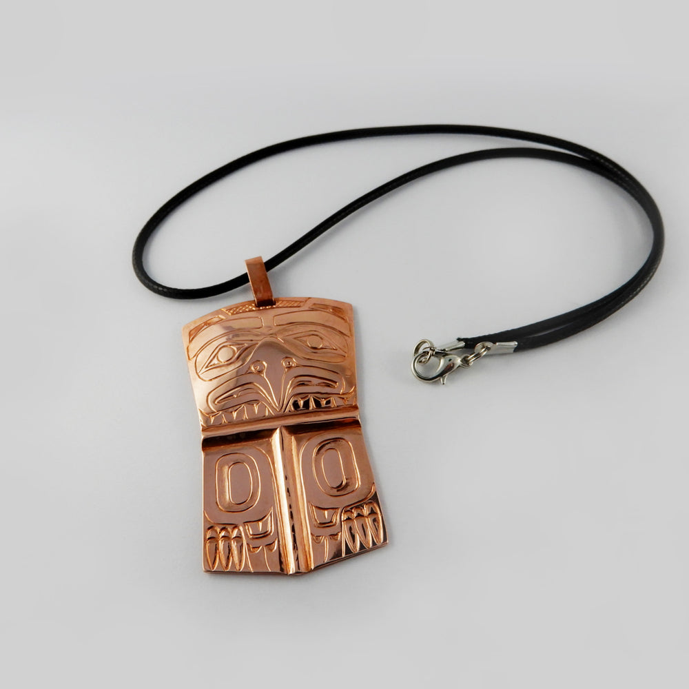 Haida Eagle Copper Pendant