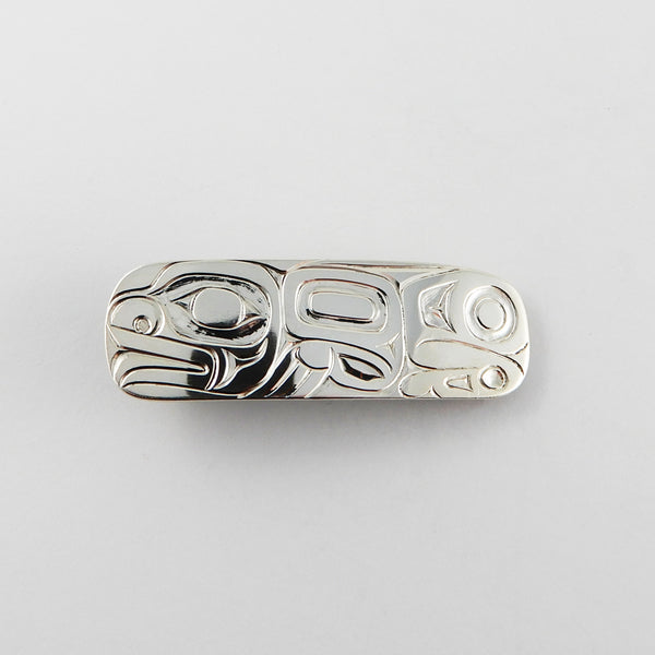 Haida Frog Hair Barrette by Derek White