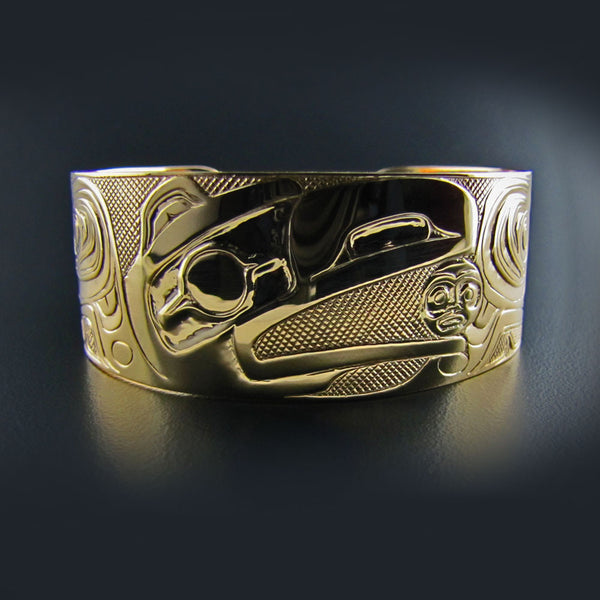 Gold Haida Raven Steals the Light Bracelet