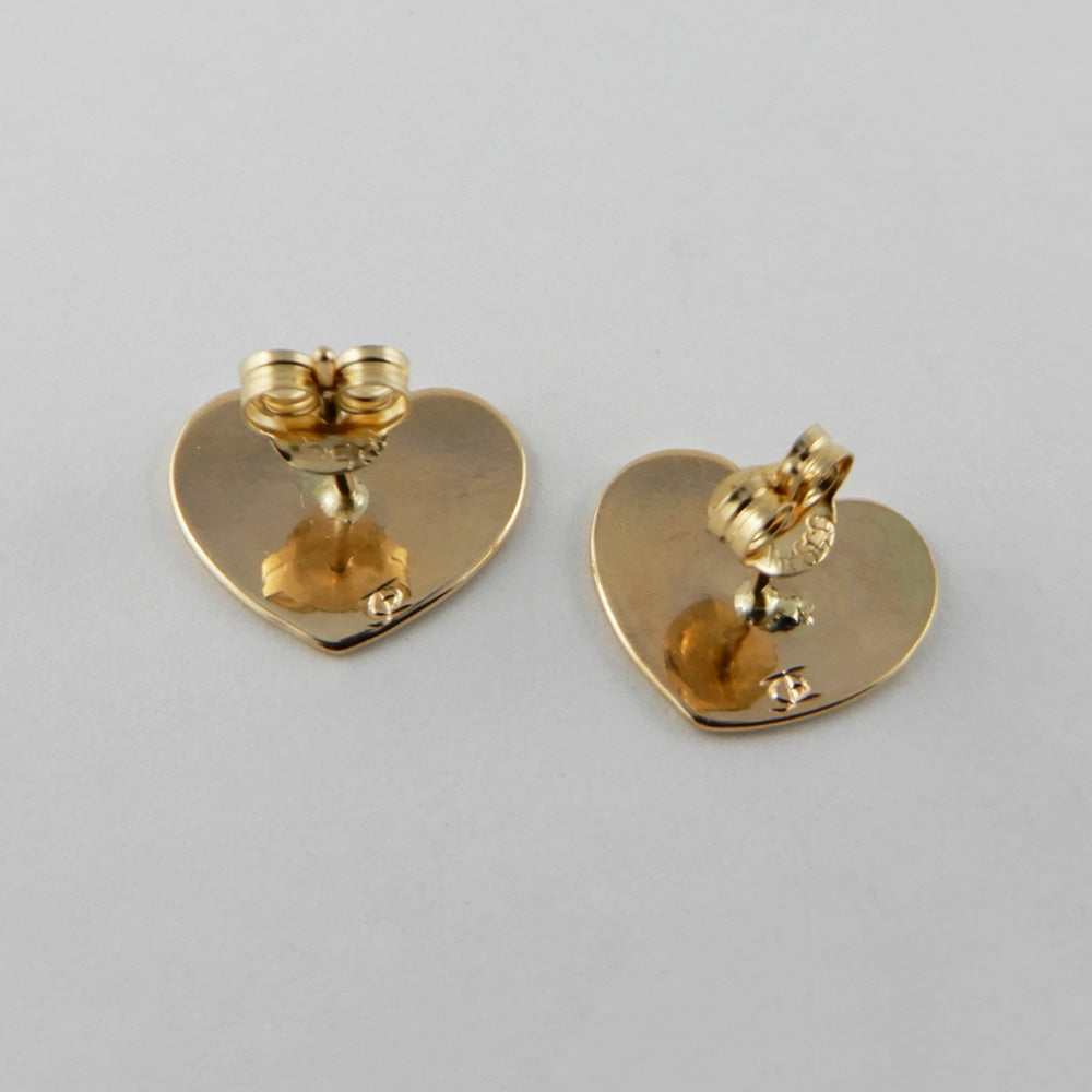 Gold Wolf Heart Studs / Earrings