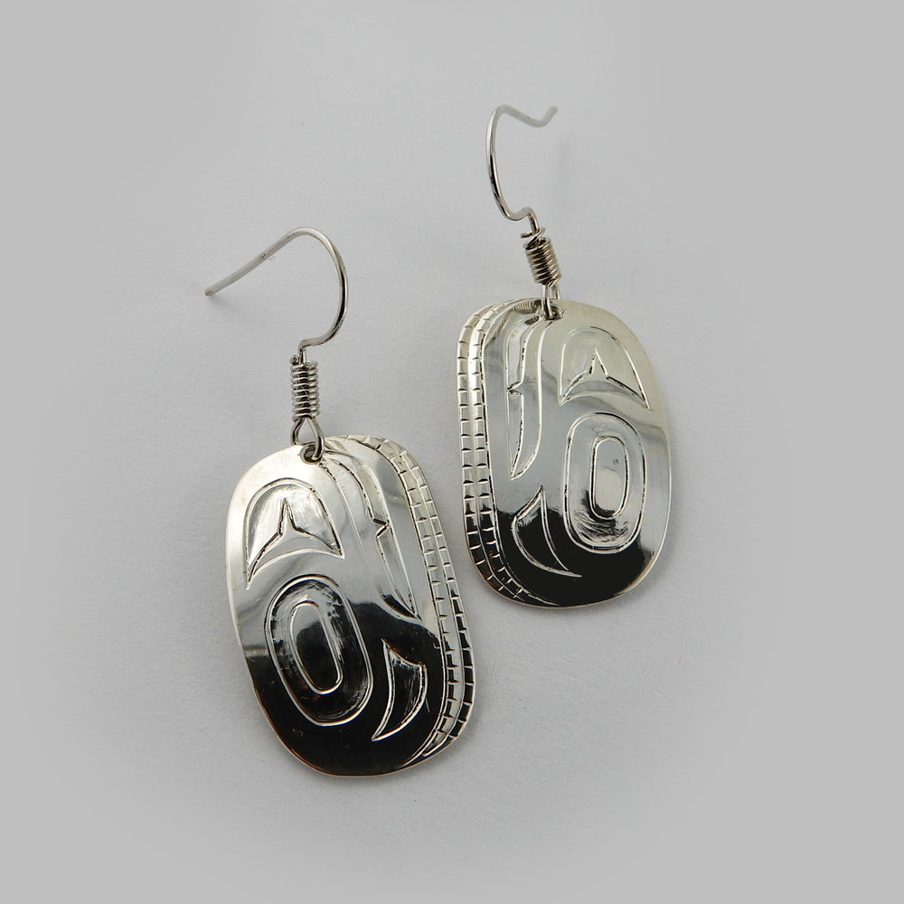 Haida Abstract Silver Earrings