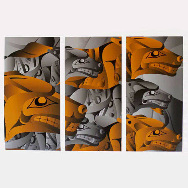 Hunting Triptych Limited Edition Print