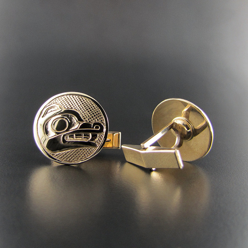 Cufflinks Wolf in Gold by Carmen Goertzen