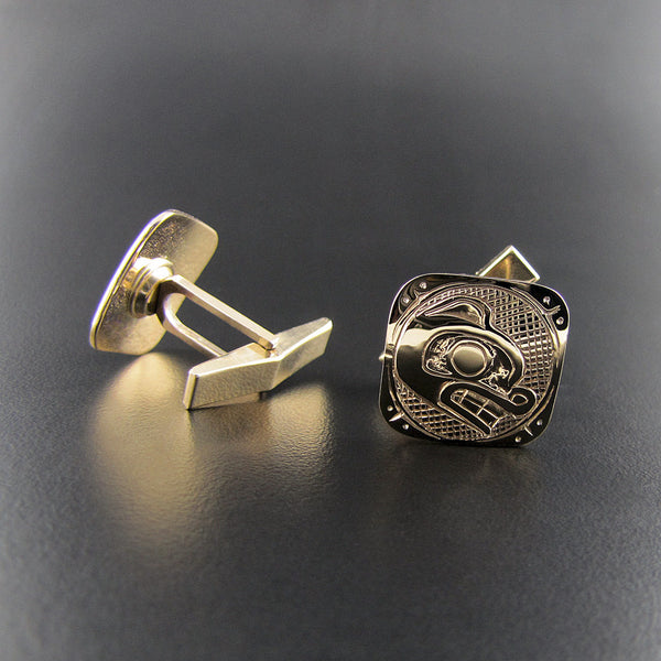 Gold Bear Cufflinks by Carmen Goertzen