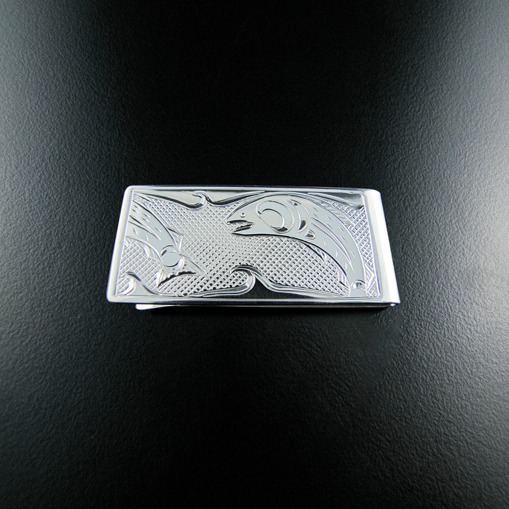 Silver Native Crest Money Clips