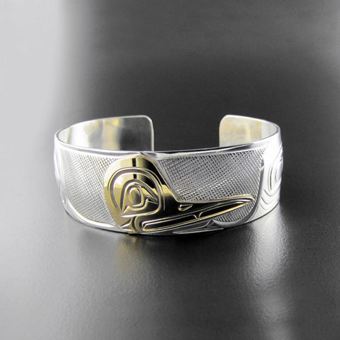 Gold and Silver 3/4 inch Hummingbird Bracelet