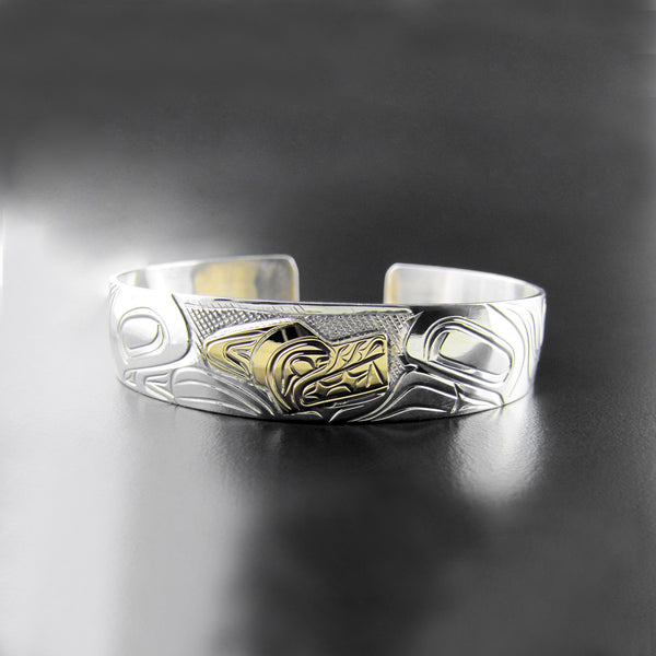 1/2 Inch Gold and Silver Wolf Bracelet