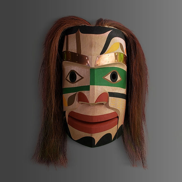 Nuu-chah-nulth Land Chief Mask by Calvin Hunt