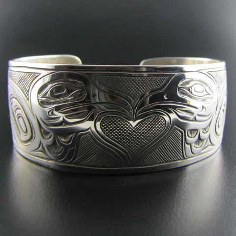 Love Doves Silver Bracelet by Joe Wilson
