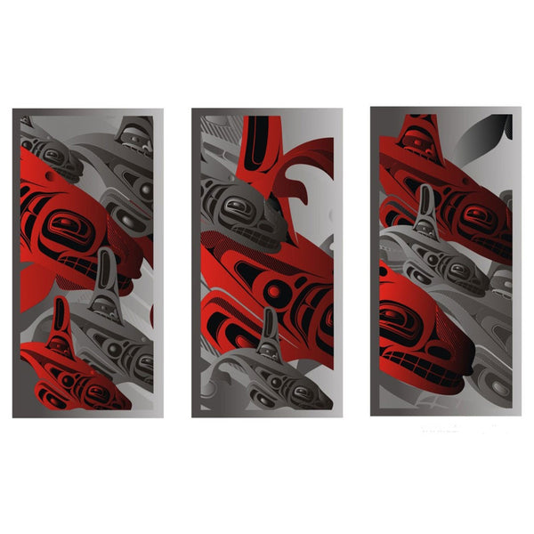Making Waves Triptych Limited Edition Print by Alano Edzerza