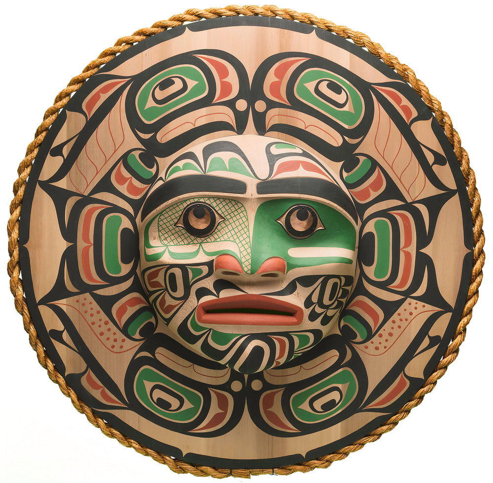 Moon Mask with Salmon Design by Calvin Hunt