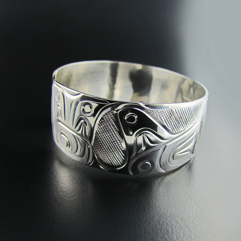 Orca Silver and Gold Bracelet by Rick Johnson