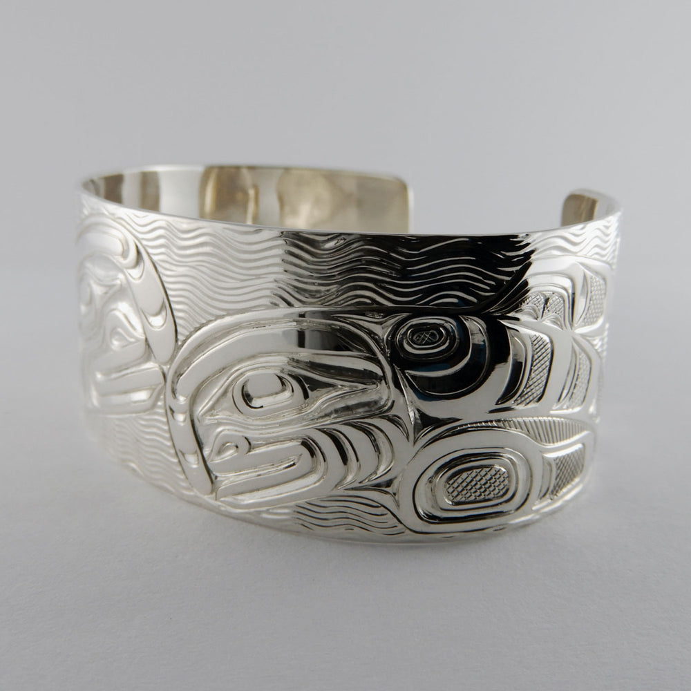 Orca or Killer Whale Silver Bracelet by Joe Wilson