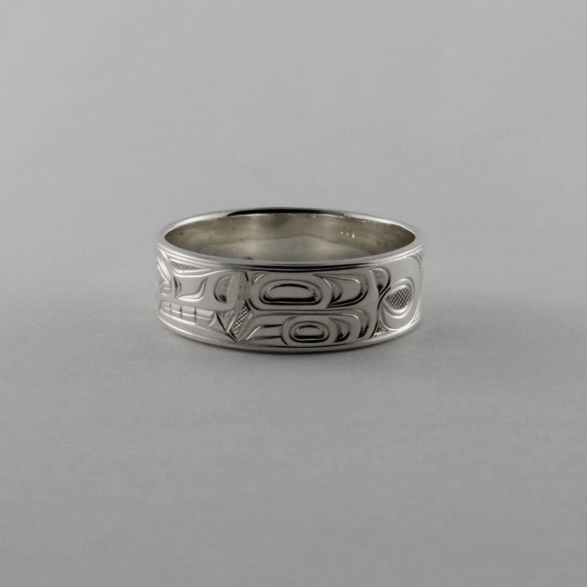 Wolf Silver Band 1/4 inch Wide