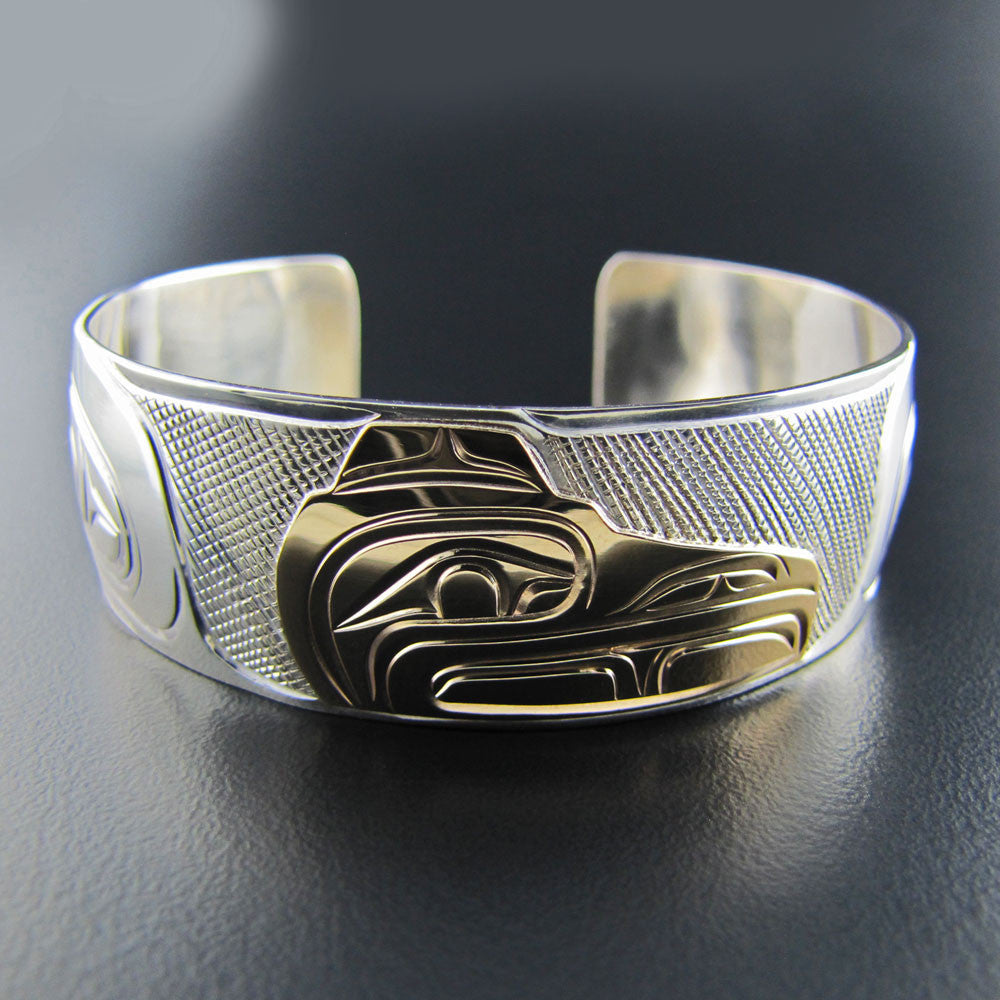 Raven Silver and Gold Bracelet by Rick Johnson