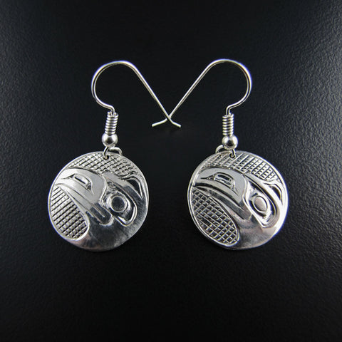 Haida Raven Round Earrings