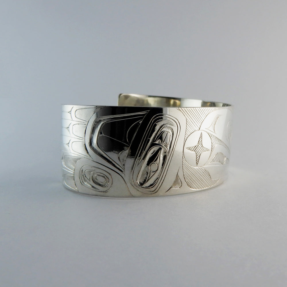 Raven and the Sun Silver Bracelet