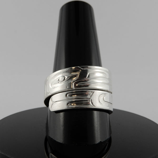 Haida Raven Wrap Ring by Derek White