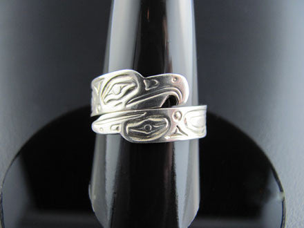 Haida Eagle Raven Wrap Ring