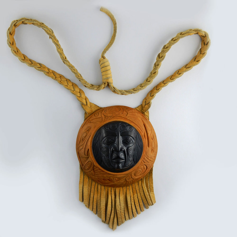 Haida Shaman Argillite and Boxwood Pendant