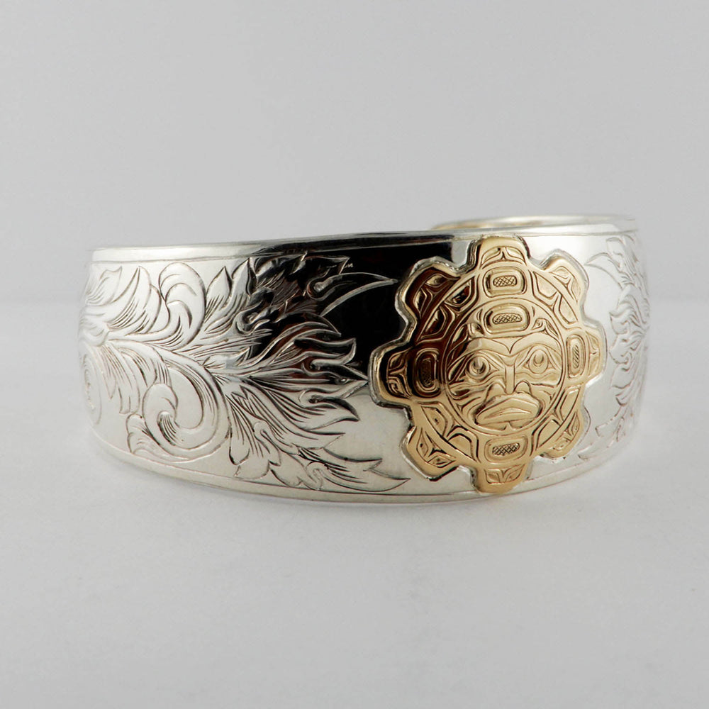 Sun Silver Gold Bracelet by Joe Wilson