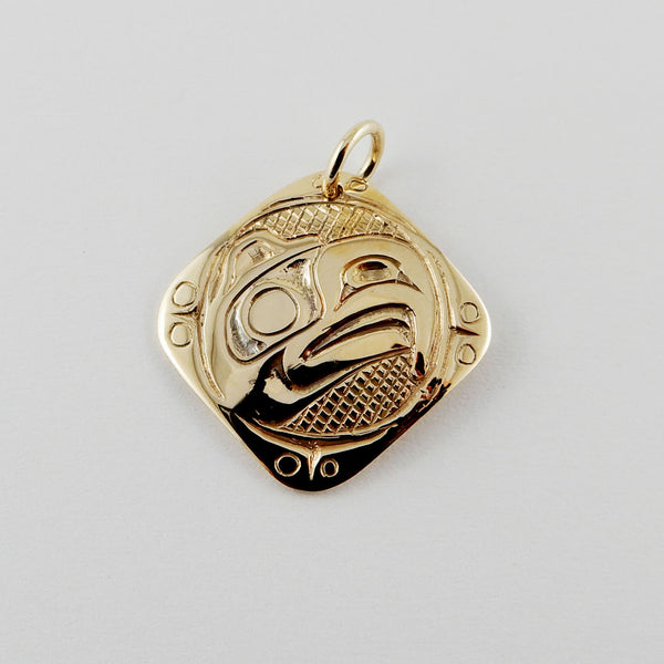 Gold Haida Eagle Pendant