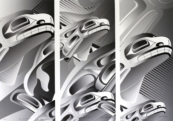 Still Making Waves Triptych Limited Edition Print by Alano Edzerza