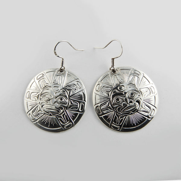 Sun Silver Earrings