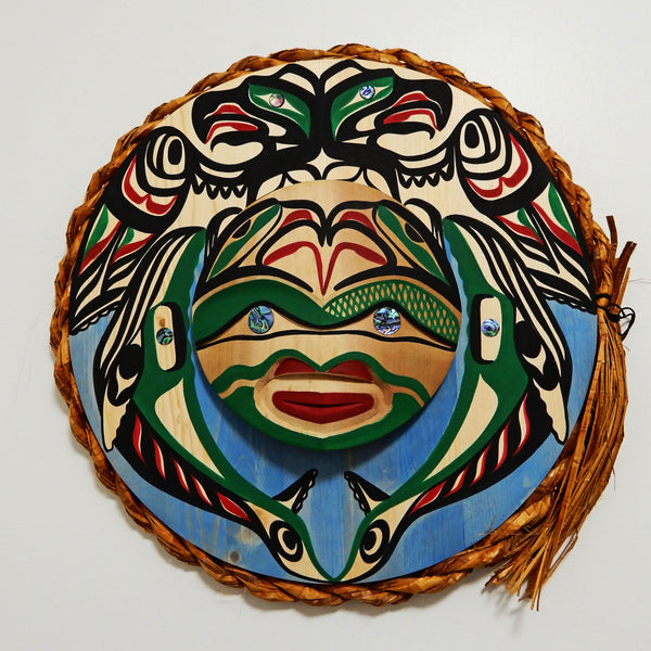 Thunderbird and Grey Whales Moon Mask