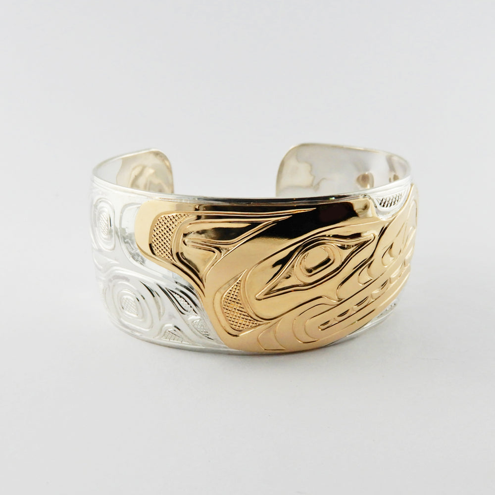 Wolf Silver Gold Bracelet by Joe Wilson