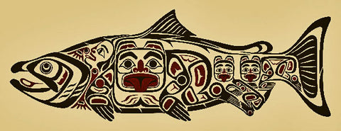 Chíin Sgáanuwaay ~ Supernatural Salmon I by April White