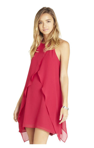 Ruffle Halter Dress