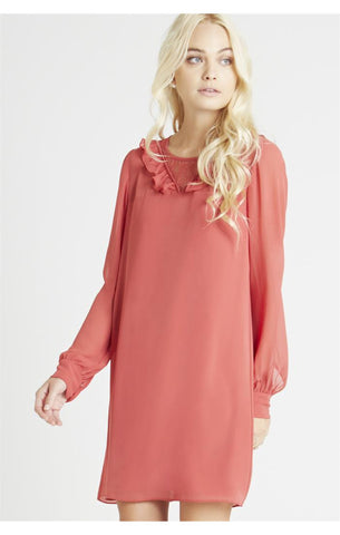 Lace Yoke Shirt Dress