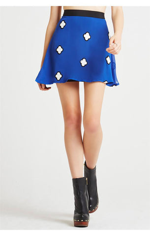 Sapphire Embroidered Circle Skirt