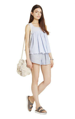 Shirred Babydoll Top