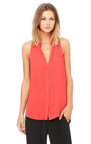 Pocket Button-Up Tank