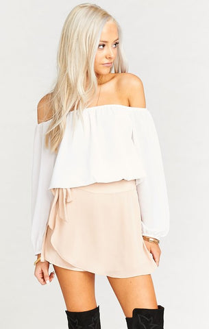 Lima Scrunch Top - White