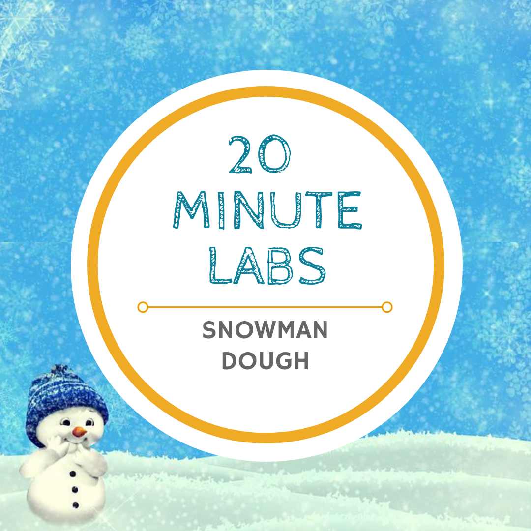 20 minute labs snowman dough logo | Yellow Scope