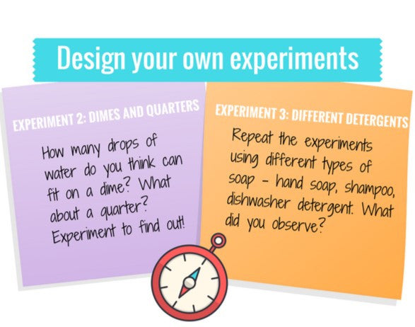 design your own experiments Drops & Detergents | Camp Yellow Scope
