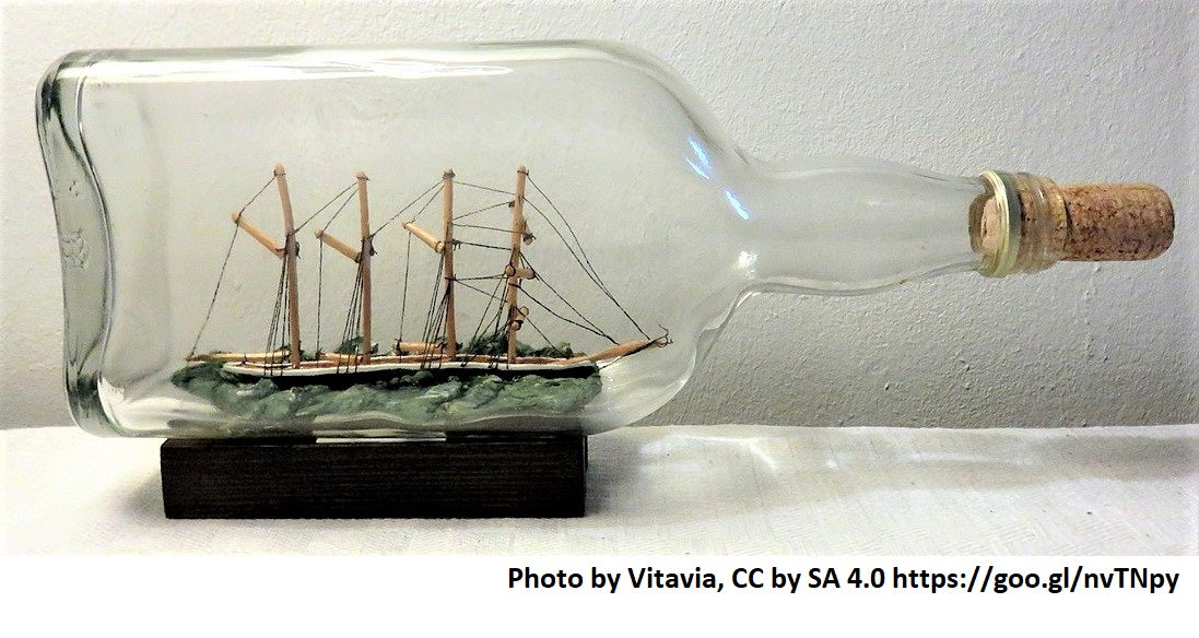 ship in a bottle | Yellow Scope blog