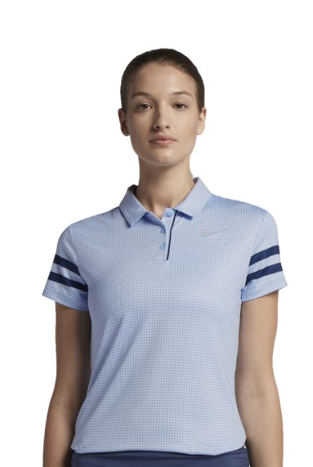 NIKE WOMEN'S DRY PRINTED GOLF POLO - Miami Golf