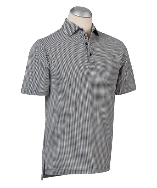 BOBBY JONES XH2O JACQUARD PERFORMANCE POLO (BLACK) - Miami Golf