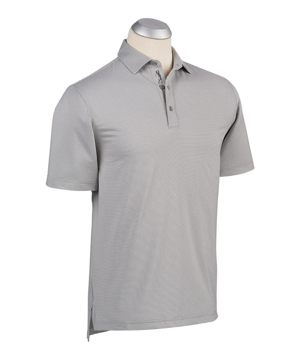 BOBBY JONES XH2O JACQUARD PERFORMANCE POLO (GRAPHITE) - Miami Golf