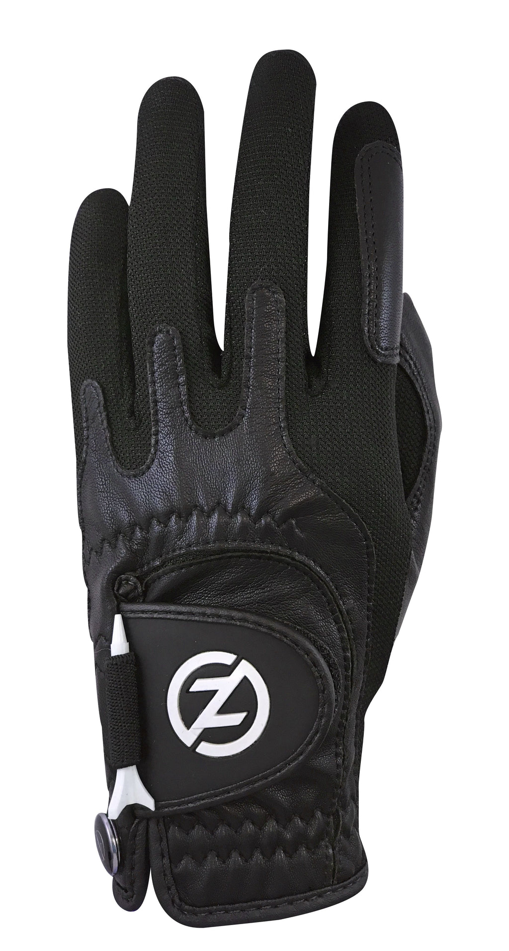 ZERO FRICTION MEN'S CABRETTA ELITE GOLF GLOVE (BLACK)