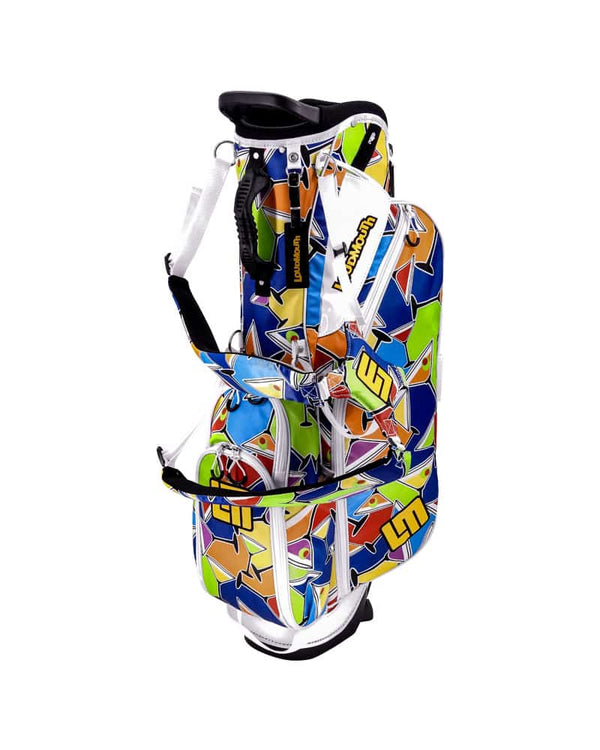 "LOUDBAGS COCKTAIL PARTY 8.5"" DOUBLE STRAP GOLF STAND BAG - Miami Golf"