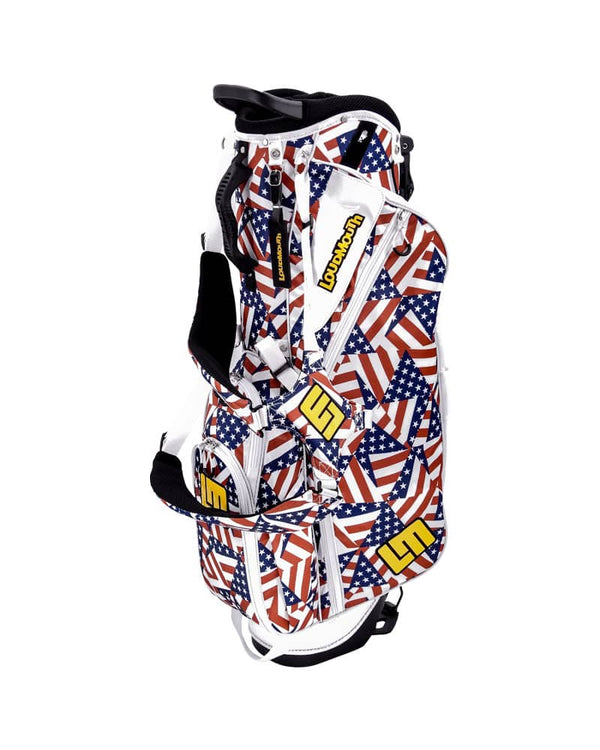 LOUDBAGS FLAGADELIC 8.5'' DOUBLE STRAP GOLF STAND BAG - Miami Golf