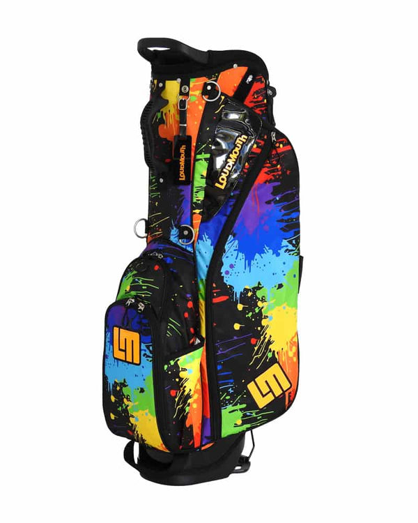 LOUDBAGS PAINT BALLS 8.5'' DOUBLE STRAP GOLF STAND BAG - Miami Golf