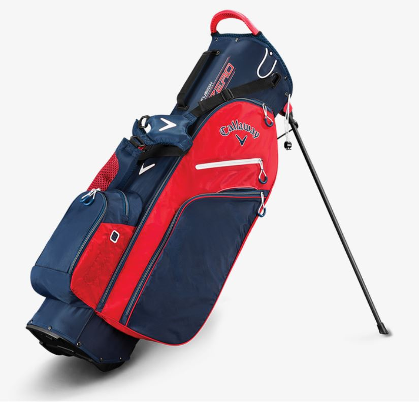 Cleveland Golf Stand Bag Navy/Red/White - Miami Golf