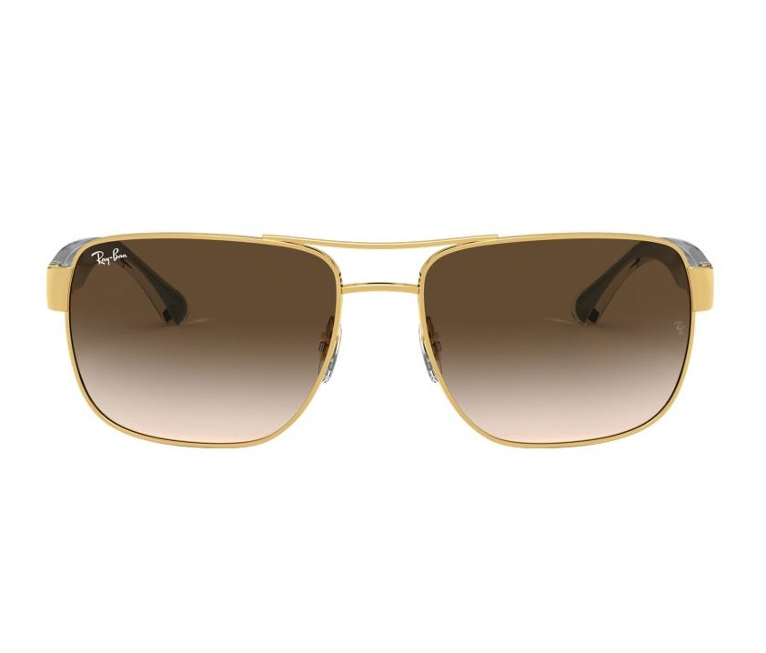 Ray-Ban Gold Brown / Brown Gradient (RB3530 001/13 58-17) - Miami Golf